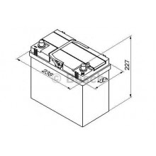 Батарея акумуляторна 12В 45Ач 330A(EN) R+
