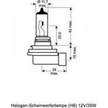 Лампочка    H8 12V 35W PGJ 19-1